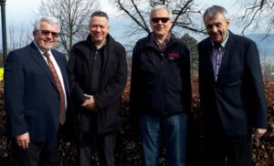 VTG-Vorstand v.l.: Franz Seiser, Frank Hinkelmann, Max Eugster, Franz Wimberger (nicht im Bild Paul Tarmann)